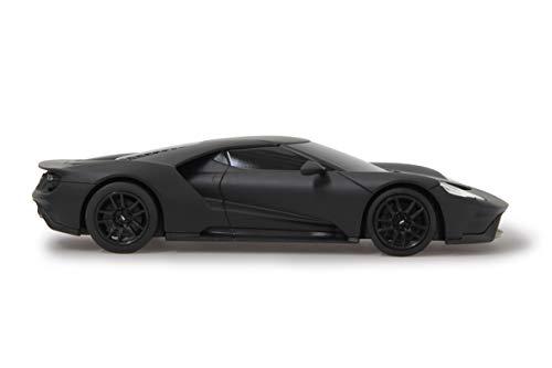 JAMARA 405157 - Ford GT 1:24 27MHz - RC Auto, offiziell lizenziert, ca 1 Std fahren, 9 Km/h, perfekt nachgebildete Details, detaillierter Innenraum, hochwertige Verarbeitung, schwarz matt