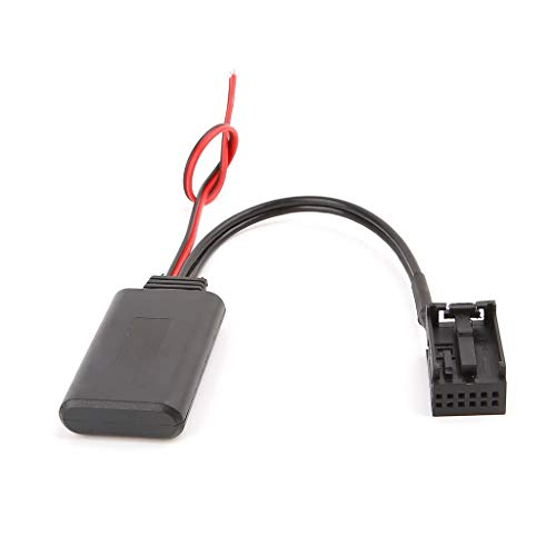 Liuxia Kfz-Bluetooth-Modul, AUX-Empfänger-Kabel-Adapter, 12-poliger Anschluss für Mondeo 6000CD
