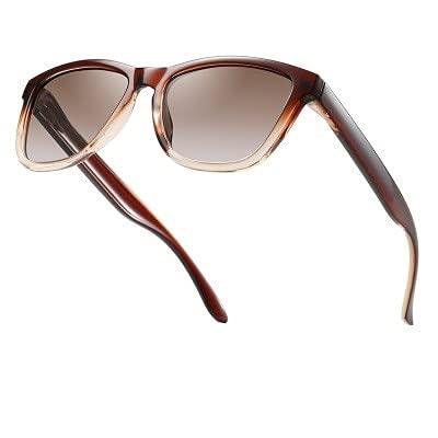 NIUBKLAS er Gafas de sol Hombres Mujeres Gafas de sol cuadradas Lente negra Gafas de sol de conducción al aire libre UV400 5