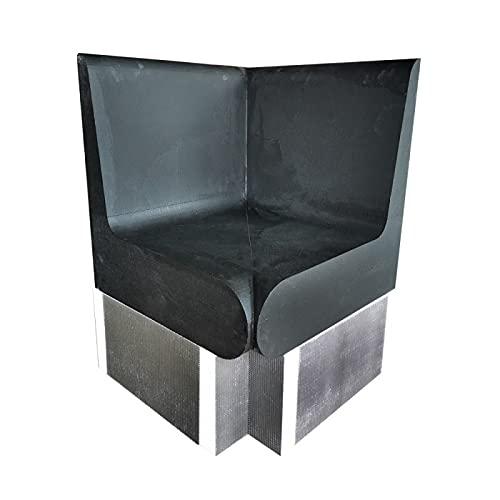 Desineo - Banco de esquina redondeado, 600 x 586 x 870 mm, con respaldo XPS listo para baldosas para hammam y cuarto de baño valStorm