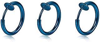 3PCS/set Stainless Steel Segment Ring Ear Piercings For Women Men Nose Ring Lip Eyebrow Piercings Captive Bead Ring Body J...