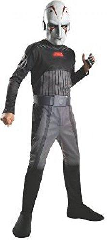 Disney Star Wars Rebels Sith Inquisitor disfraz máscara Jumpsuit Niño Talla 8 – 10