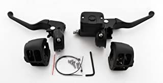 DEMONS CYCLE Black Hand Controls for Softail Single Disc 9/16 Harley-Davidson Handlebars 96-up