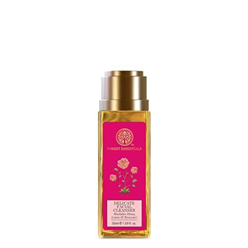 Forest Essentials Travel Size Delicate Facial Cleanser Mashobra Honey, Lemon & Rosewater 50ml (Face Wash)