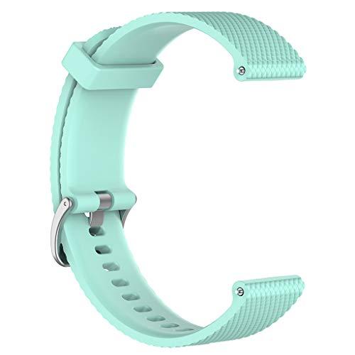 Sunhoyu Correa de repuesto para Polar Vantage M Smartwatch, correa de silicona ajustable flexible reloj deportivo accesorio para Polar Vantage M Sport Fitness Watch (S, Teal)