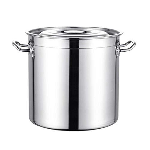 CVMFE Gran Capacidad de Tapa Sopa de Pot-Cocineros Estándar del Grado Profesional de Acero Inoxidable Olla, Plata