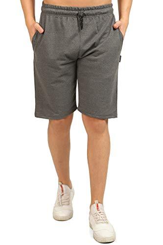 Comeor Pantalon de sport court pour homme, Short de jogging pour homme, Short de course pour homme, Short d'été en coton, Bermuda, Pantalon de fitness, Pantalon de tennis, gris foncé, XL