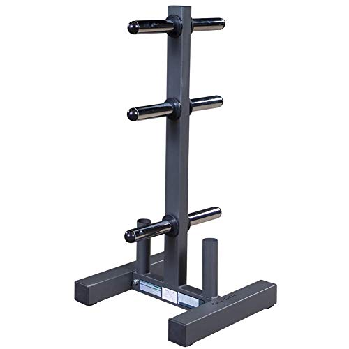 Body-Solid WT46 Olympic Weight Plate Tree and Bar Holder,Black