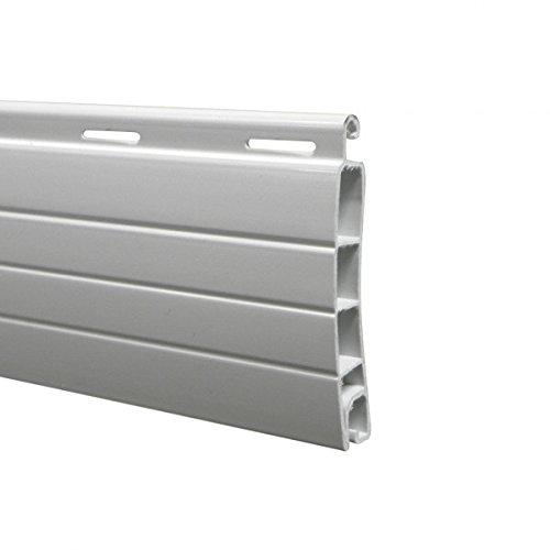 Lame PVC 40 mm ajourée - blanc (2 mètres)