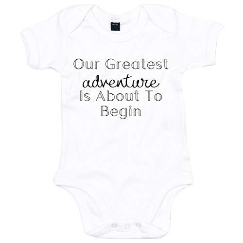 Lo Key Clothing Greatest Adventure Babygrow Annonce pour bébé - Blanc - 2 Mois
