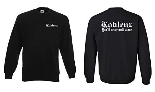 World of Shirt Herren Sweatshirt Koblenz Ultras