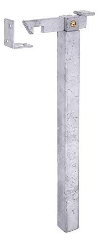 GAH-Alberts 412838 Torfeststeller | höhenverstellbar | zum Einbetonieren | feuerverzinkt | Höhe 300 mm