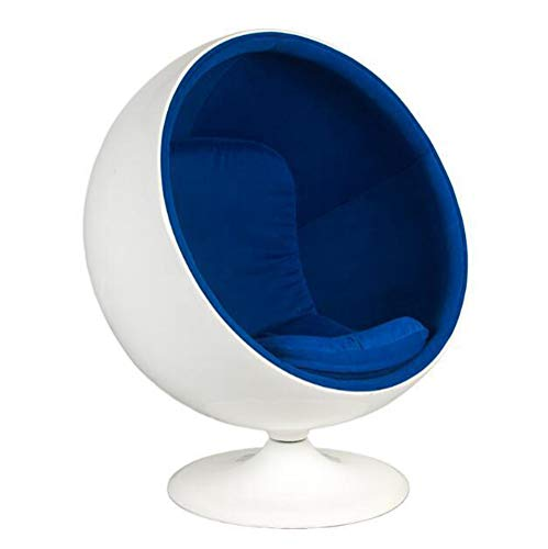 SMGXQ Ballchair, Space Ball Chair, kreative Glas Stahl rotierenden kugelsessel, Bubble Chair, Egg Chair, Single Sofa