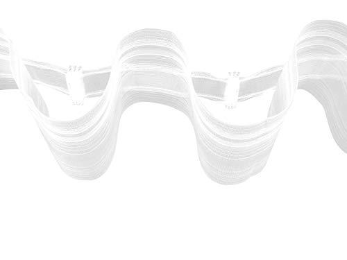 heimtexshop24 Creativ Wellenband Welle moderenes Gardinenband Transparent 80mm Breit Zugabe 1:1,8 (8m)