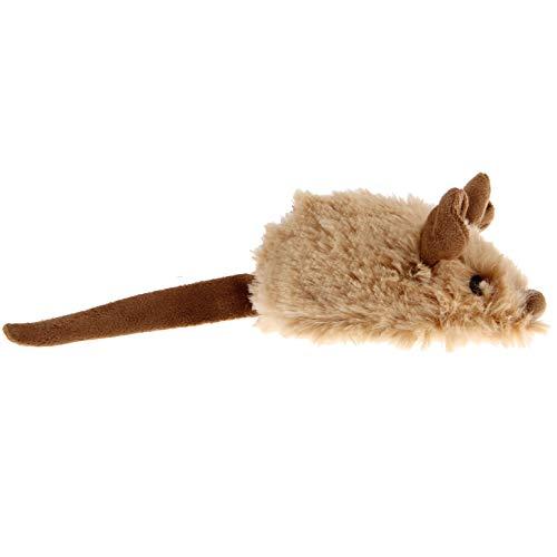 Gigwi 7066 Elektrisches/Interaktives Katzenspielzeug Petdroid Maus, Mit Geräuschen Und Bewegung, Einheitsgröße, Beige