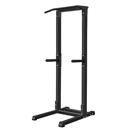 Power Tower Pull Up Dip Station for Home Gym Adjustable Height Strength Training Workout Equipment, 660 LBS