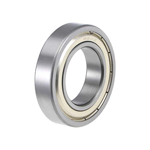 uxcell R20ZZ Deep Groove Ball Bearing 1-1/4-inchx2-1/4-inchx1/2-inch Shielded Z2 Lever Bearings