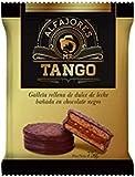 Tango- Cioccolato fondente Alfajor- Biscotto ripieno di Dulce de Leche bagnato al cioccolato fondente - Prodotto argentino - Scatola da 12 unità - 660 grammi
