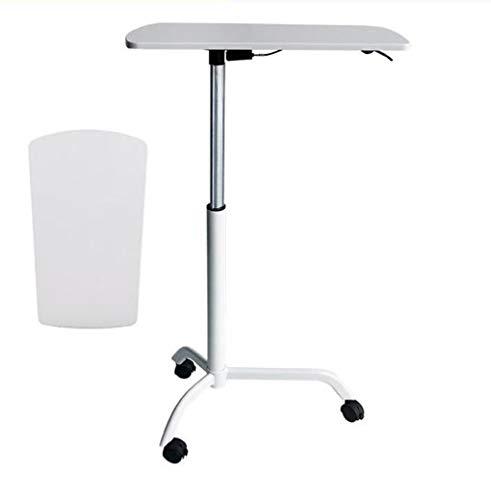 AMZH Präsentation Rednerpult Mit Rädern - Notebook-Schreibtisch Die Arbeitsplatte ist glatt und zart tragbar Stehpult Rednerpult Einstellbarer Höhenbereich: 80-119cm White