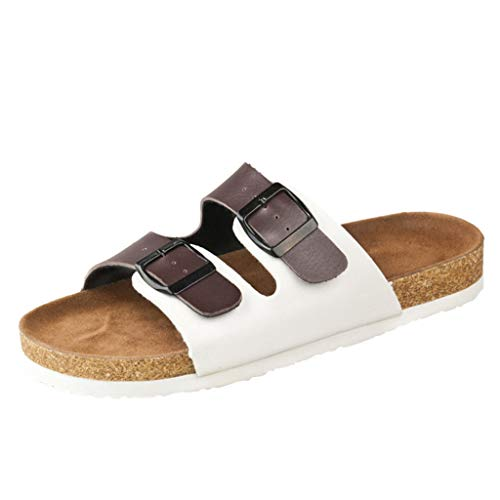 Sandalias de Playa para Mujer TOPKEAL Zapatillas de Verano con Hebilla Doble con Punta Abierta de Moda 2019 para Damas