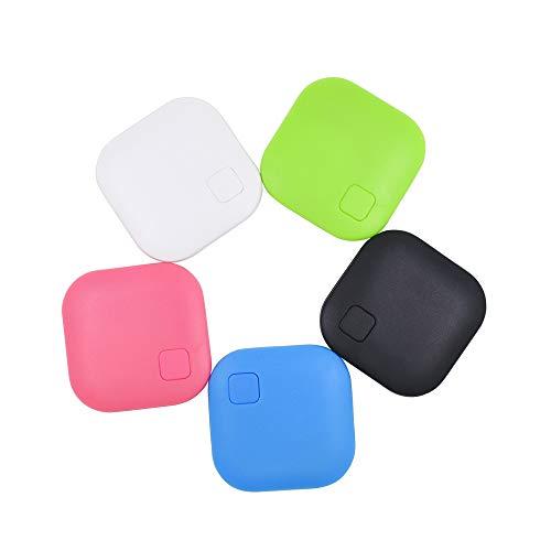 JASZW 5 Piezas Buscador de Llaves inalámbrico Localizador GPS Anti Llavero perdido Rastreador Bluetooth Inteligente Etiquetas itag Keyfinder para Billetera Perro Gato niños