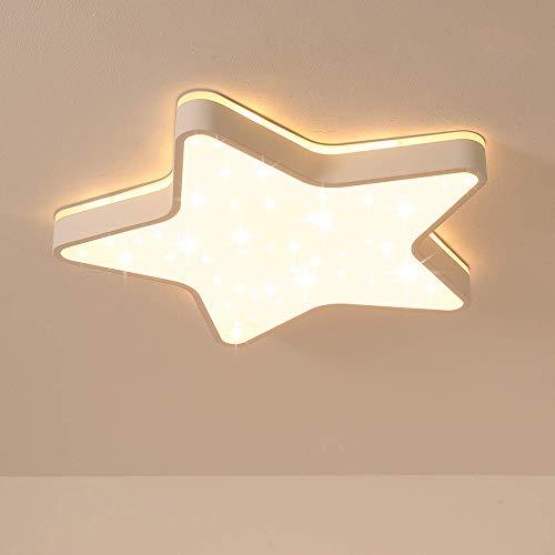RUIXINBC Led-plafondlamp, pentagramma ster A kamerdekbed, lampenkap van acryl, sterrenhemel, decoratie voor kinderkamer