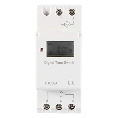 Interruptor de tiempo programable Interruptor de temporizador digital electrónico THC 30A Carril...