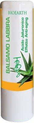 BIOEARTH Baumes à Lèvres TBS Aloe & acide hyaluronique - Soin optimal et naturel avec beurre de karitè - Baumes hydratants et régénérants - Pour femmes et pour hommes - Anti age - 7 ml
