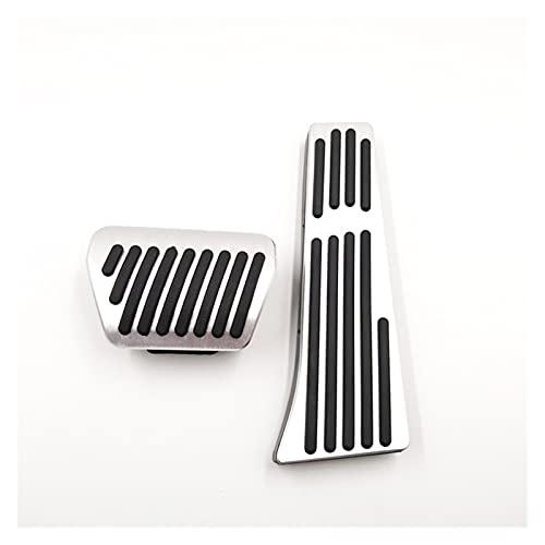 Yi Pin Pedales de coche para BMW F25 F26 X3 X4 F10 F11 F01 F02 5 7 Series Gas Brake Clutch Foot Rest Pedal Pad Reemplazar accesorios de estilo de coche (nombre del color: plata en 2 piezas)