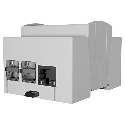 Caja para Raspberry sobre guía DIN – Caja modular para cuadros eléctricos (Pi 4 – 1 unidad) (25.0410000.RP4) + Kit disipador activo