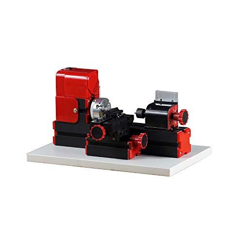 Mini 6 in 1 Tornio, Foratura di legno del tornio del metallo del metallo, Multi-funzionale motorizzato Mini Tornio per la lavorazione dei metalli Strumento fai-da-te (20.000 rpm2)