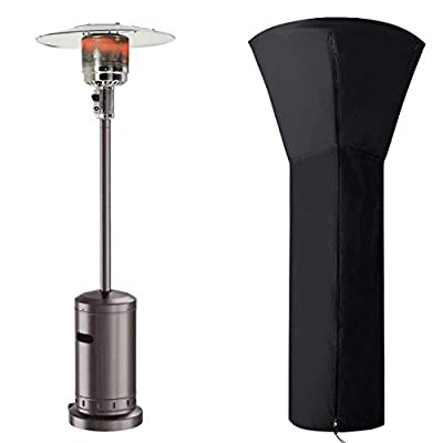 Aokairuisi Patio Heaters Gas Propane Standing Heater 46000 BTU Outdoor Patio Heater Outdoor Waterproof Gas Patio Heater. (Brown cover1)