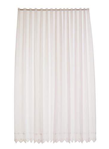 Tenda della finestra ricami floreali altezza 127 cm | Può scegliere la larghezza in segmenti da 21 cm, come vuole | Colore: Bianco | Tendine cucina
