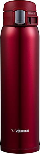 Zojirushi Stainless Steel Mug, 20-Ounce, New Clear Red