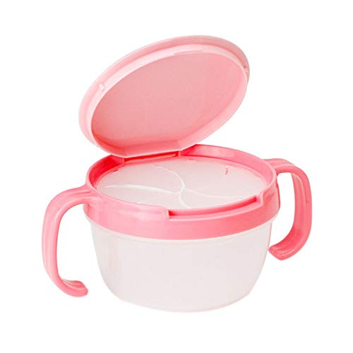 GJDBBLY Baby borden Baby Kids Peuter Catcher Dubbele Handvat Snack Cup Jar Bowl Spill-proof Koekjes Container Box