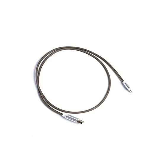 Wirlsweal Cable de carga rápida tipo c, cargador USB Cable de carga luminoso tipo c LED para teléfono móvil Negro Gris