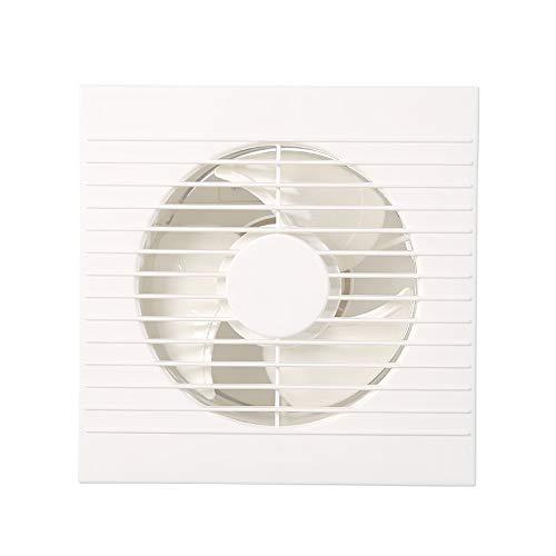 MHRCJ Escape Redondo Blanco Ventilador WC Cuarto de baño del hogar Extractor de Cristal de Ventana Ventilador de ventilación
