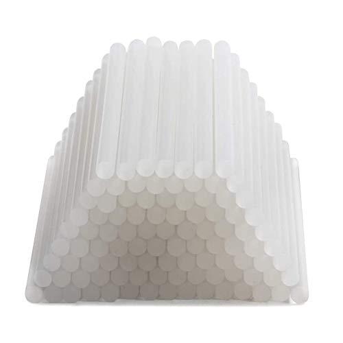 JueYan® 100 pcs 7mm x 100mm Pegamento Termofusible Transparente Adhesivos Barras de Pegamento Transparente para Pistola Térmica Adhesivo Termofusible Silicona