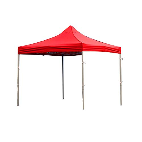 Befirstore Gazebo Cover Garden GazeboTent Waterproof Oxford Cloth, Canopy Cover with Sides Transparent Protection (red canopy)