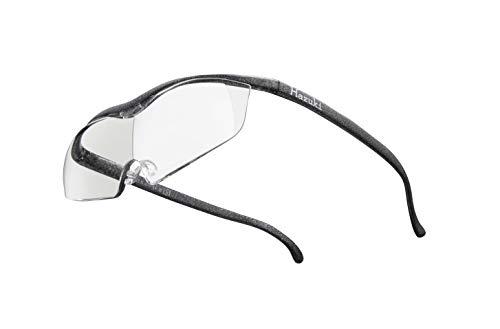 Hazuki ハズキルーペ 直営店 公式店 限定 倍率交換保証付き ラージ 1.32倍 クリアレンズ ブラックグレー ハズキ 拡大鏡 ルーペ メガネ型 眼鏡型 めがね型 メガネ 眼鏡 めがね 日本製 MADE IN JAPAN ギフト