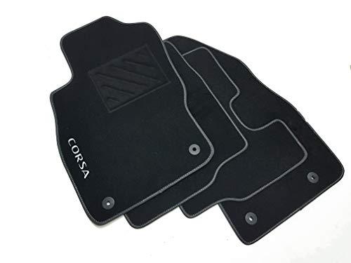 Tappetini compatibili per Corsa D dal 2006 al 2014 con Clip,1 Logo e battitacco
