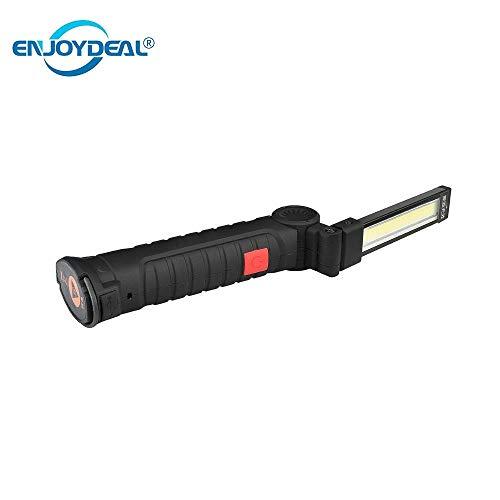 Petite taille : lampe de poche pliable rechargeable 3 modes COB portable lampe de travail LED crochet lampe de travail lampe de poche lampe de poche à crochet lanterne d'extérieur camping