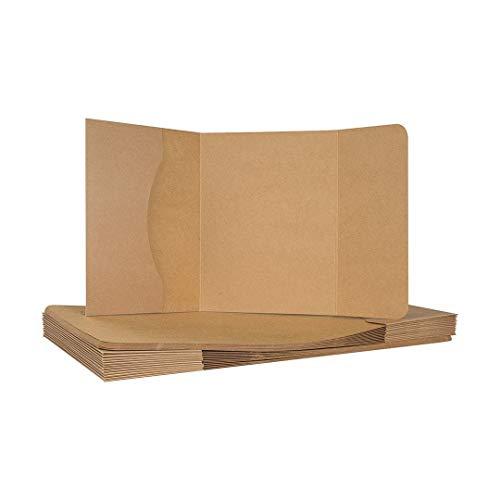 Fotomappe, bis 13 x 19 cm, mit Klappe, 3 mm Füllhöhe, Kraftkarton, Kraftpapier - 10er Pack