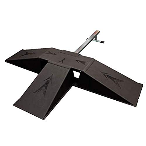 Ten Eighty Skatepark Set with 40-in. Grind Rail, 3 Ramps, and Tabletop, Black