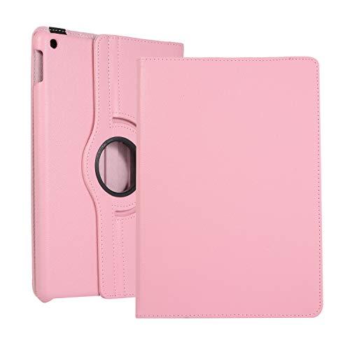 Shinyzone 360 Grad Drehbare Ständer Hülle für iPad 9.7 Zoll 2018/2017, Auto Schlaf/Aufwach Smart Cover Schutzhülle mit Gummiband Premium PU Lederhülle für iPad 9.7 Zoll 2018/2017,Rosa