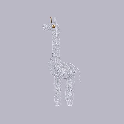 KOH DECO Girafe Duti en métal Blanc 50 cm