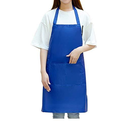 LYDCX Color Sólido Delantal De PVC Cocina De Hotel Chef Procesamiento De Alimentos Monos Cintura Azul