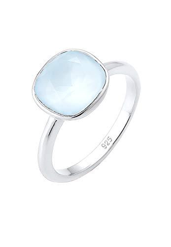 Elli Ring Damen mit Swarovski Kristall Pastellblau in 925 Sterling Silber