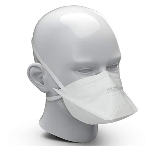 25x FFP2 Atemschutzmaske Made IN Germany FFP2 KN95 Maske 3-lagig Staubschutzmaske Atemmaske Staubmaske 25 Stück verpackt im hygienischen PE-Beutel