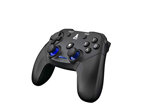 THE G-LAB K-PAD THORIUM Drahtloser kabelloser PC- und PS3-Gaming-Controller mit integrierten Vibrationen, GamePad-kabelloser Gamecontroller - PC Windows XP-7-8-10, PS3, Android (Schwarz)